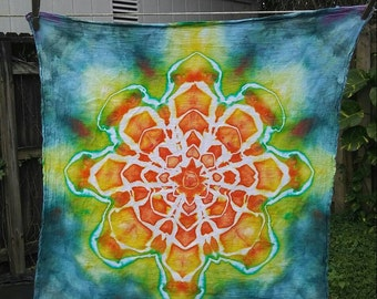 Mandala - Ice Dyed Flour Sack Towel - Please Read Item Details Before Buying