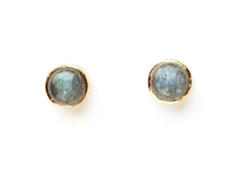 Labradorite Studs - gemstone earring, labradorite jewelry, studs
