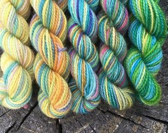 Charms Class Mini Sock Yarn Skeins - 25 yds each - Hogwarts