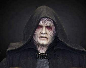 emperor palpatine inspired silicone mask