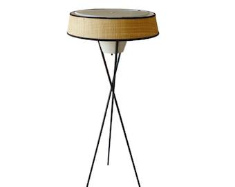 midcentury modern gerald thurston lightolier tripod floor lamp