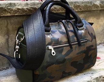Medium Leather Barrel Bag, YOUR CHOICE of leathers -  Satchel Handbag - Boston Bag- Laurel Dasso