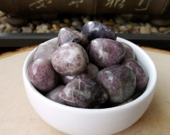 Lepidolite Tumbled Stone - Healing crystals, Metaphysical, New Age crystals, Reiki healing, jewelry supply, wire wrapping