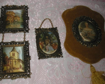 Victorian Metal Picture Frame Lot 4