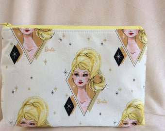 Blonde Barbie Print Makeup Bag
