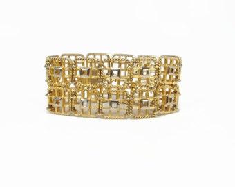 Fab Modernist 1960s 2 Tone Bracelet