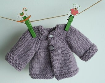 """Knitted doll sweater, Waldorf doll clothes, Cardigan  for 15-16"""" dolls, doll clothes"""