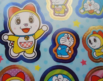 Doraemon Japanese Stickers Sheet.Made in Japan