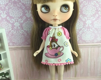 Blythe Smock Dress - Teacup Deer