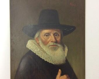 Portrait of a Gentleman Fine Art Oil on Board Painting 9 x 12 Signed