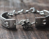 Amazing Antique Spoon Bracelet with Flower Charm