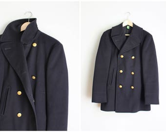Us navy pea coat | Etsy