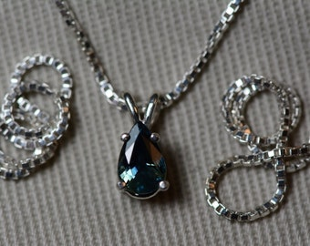 Sapphire Necklace, Blue Sapphire Pendant 0.54 Carat Appraised at 450.00, September Birthstone, Genuine Sapphire Jewellery, Oval Cut