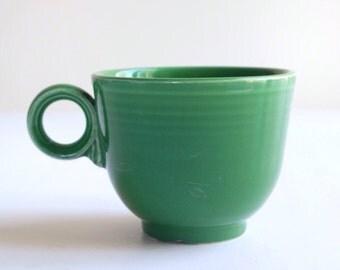 Vintage Fiesta Medium Green teacup, Homer Laughlin c.1961 art deco dinnerware, mid century Original Fiesta line tea cup