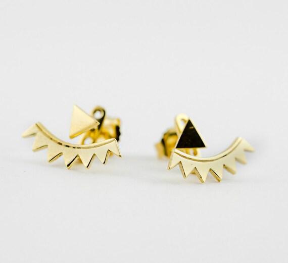 Boucle d'oreille triangle argent