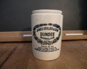 Vintage Dundee Marmalade Vintage crock Classic Black lettering on cream glazed jar