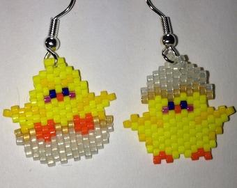 Easter Egg Chick Earrings