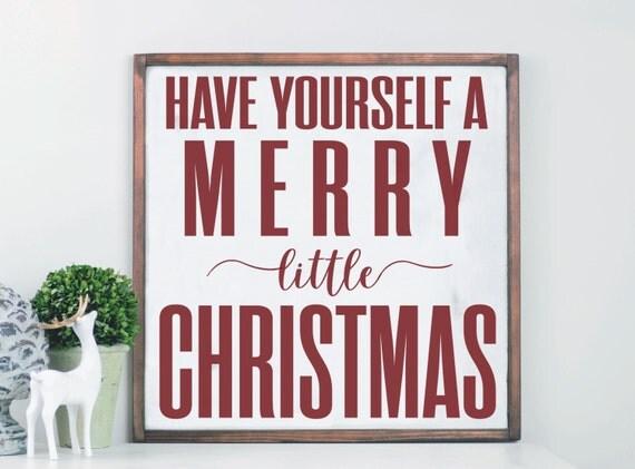 Merry Christmas Wood Sign Farmhouse Holiday Decor Modern