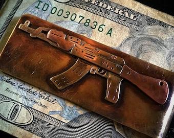 AK-47 hand made money clip