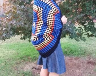 Wrap Dr Who Exploding Tardis Cocoon Cardigan Blanket Sweater Shrug Geek Fashion Free Shipping