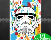 "Stormtrooper Special Edition 1 of 1 Colorway 13"" x 19"" Poster"