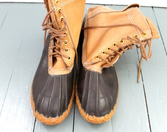 Dry Feet.... Vintage Pioneer Duck Boots Size 10, Rain Boots, Winter Boots, Rubber Boots