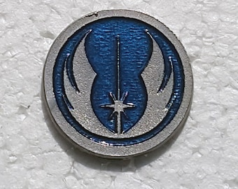 Handcast Pewter Jedi Pin - one inch