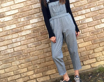 Overalls 2017 In Style Redo, Festival Clothes, Fashion Trend overalls, Denim pin stripe Newest Denim overalls  Game Day Tailgate in Style