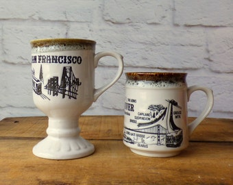 Retro City Mugs  San Francisco or Vancouver BC Coffee Mug