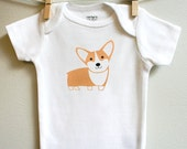 Baby clothes, Corgi baby clothes, Corgi baby bodsuit for baby boy or baby girl