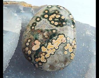 Fashion Jewelry Natural Ocean Jasper Cabochon,55x43x21mm,73.6g