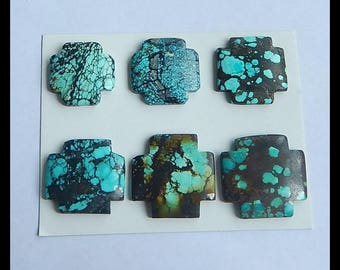 SALE,9 PCS Turquoise Gemstone Cabochons,31x6mm,24x6mm,38.5g