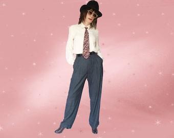 Mens High Waist Trousers, 40s Pants for Men, High Draped Pants, Womens 40s Trousers, 40s Swing Pants, Womens High Waist Pants, 31 Waist