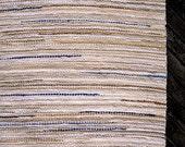 Hand wovenrag rug   6x9  feet