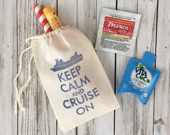 Keep Calm and Cruise On Favors - Destination Wedding Welcome Bags - Tropical Wedding Favors - Wedding Welcome Bags - Destination Wedding
