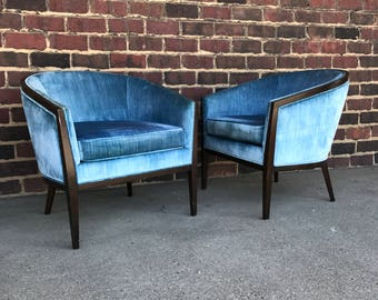 Pair of Mid Century Modern Kip Stewart for Directional Arm Chairs