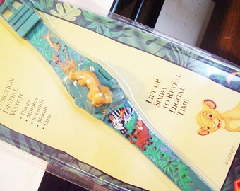 Disney Lion KIng Wristwatch- New in Package Vintage- Jungle Animal Lion