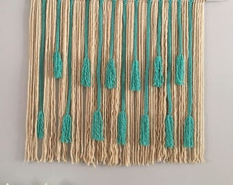 Large Macrame Wall Hanging/ Woven Yarn Wall Hanging/ Wall Tapestries/ Shabby Chic/ Wall Decor
