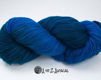Royal Baby Alpaca Yarn Bulky Weight Hand Dyed Alpaca Yarn OOAK #22