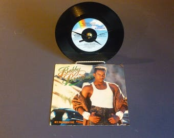 Bobby Brown My Prerogative Recycled 45 Vinyl Record Clock MCA-53383 MCA Records 1988