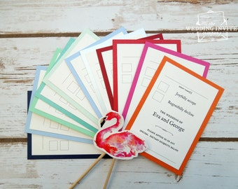 RSVP Cards and envelopes // Wedding Reply Cards