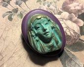 Goddess  face flexible silicone mold/ fondant/ cake decoration