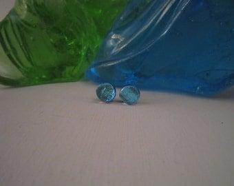Light Blue Small Round Studs