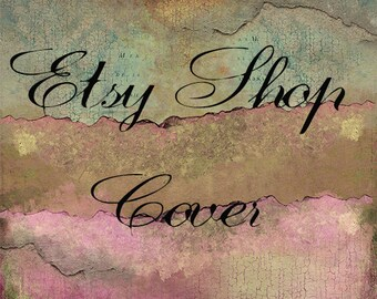 Etsy Shop Banner, Shop Cover, Avatar, Business Card, Thank You Sticker, Etsy Shop Package, Cracked Design