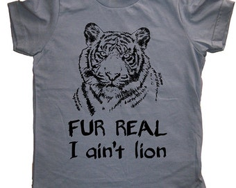 Funny Big Cat Shirt - Tiger Kids T Shirt - 7 Colors Available - Sizes 2T, 4T, 6, 8, 10, 12 - Gift Friendly - Tiger Tee Tshirt - Boys / Girls