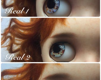 Realistic Eyechips for Neo Blythe doll Real 1-7