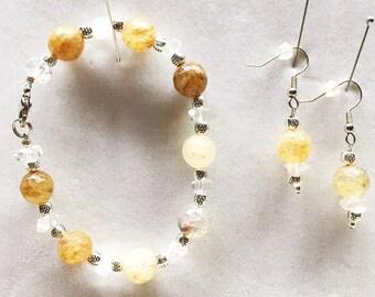Agate Bracelet, Agate Jewelry, Agate Earrings, Dangle Earrings, Bracelet, Handmade Bracelets, Handmade Earrings, Handmade Jewelry