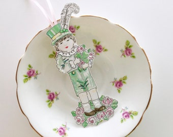 St. Patrick's Day, Luck of the Irish, Ornament, Original illustration, Pen and Ink, Watercolors
