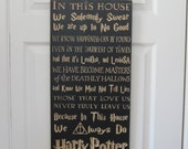 MEGA Engraved CNC Carved Wall Decor Sign - In This House We Do Harry Potter - Solemnly Swear Deathly Hallows Always Happiness - Great Gift