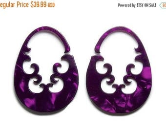 ON SALE Purple Antara Drops- 2 earrings for the price of one